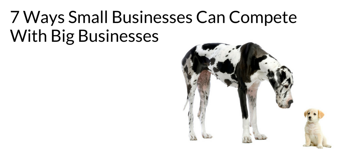 7 Ways Small Businesses Can Compete With Big Businesses
