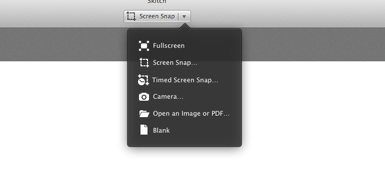 Skitch Screen Shot Options