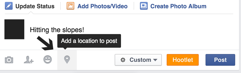 add location to facebook post