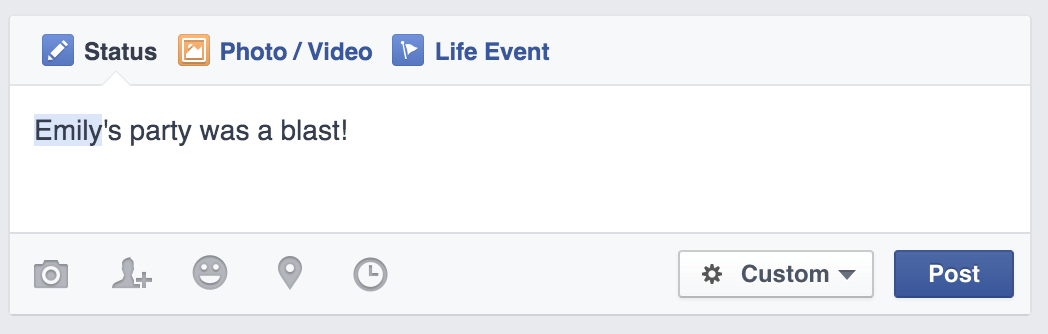 how to tag just a first name on facebook