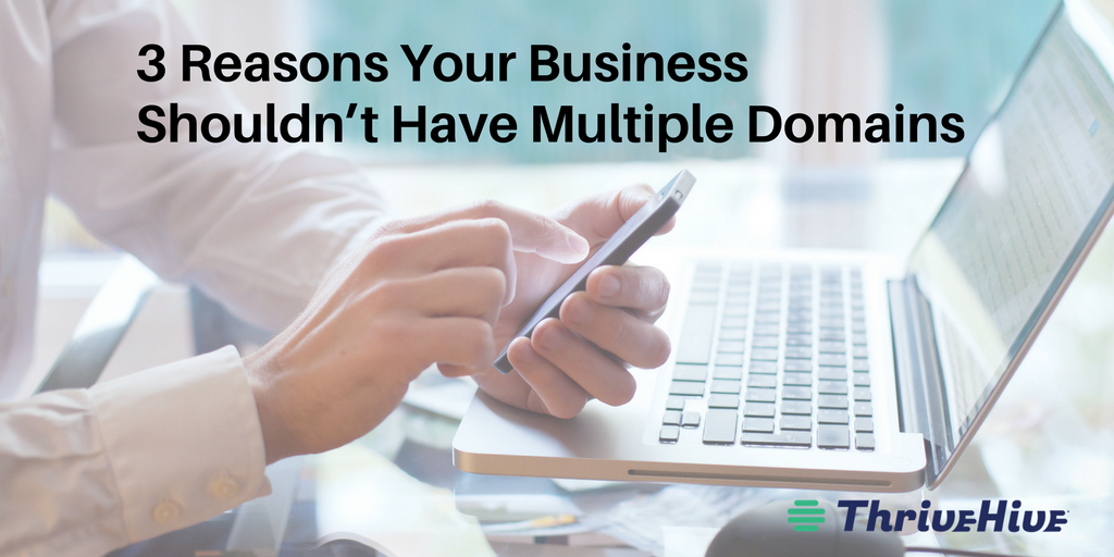 3 Reasons Your Business Shouldn't Have Multiple Domains