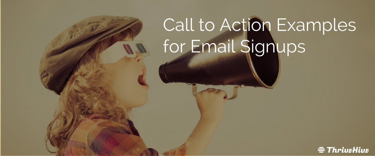 Call to Action Examples for Email Signups B