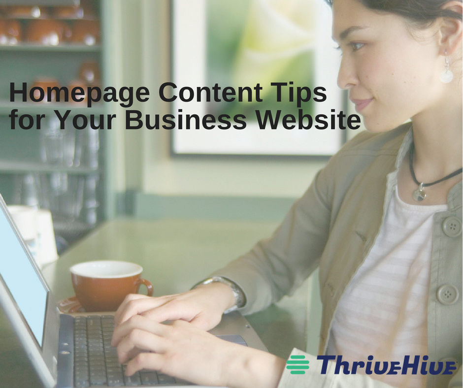 homepage content tips for your business website