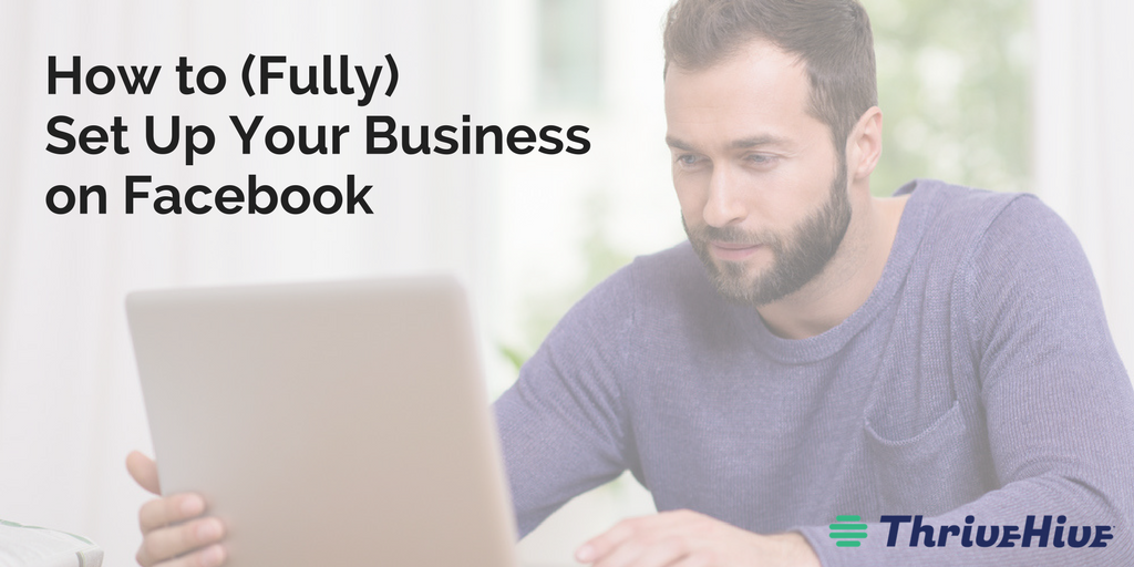 how to fully set up your business on facebook