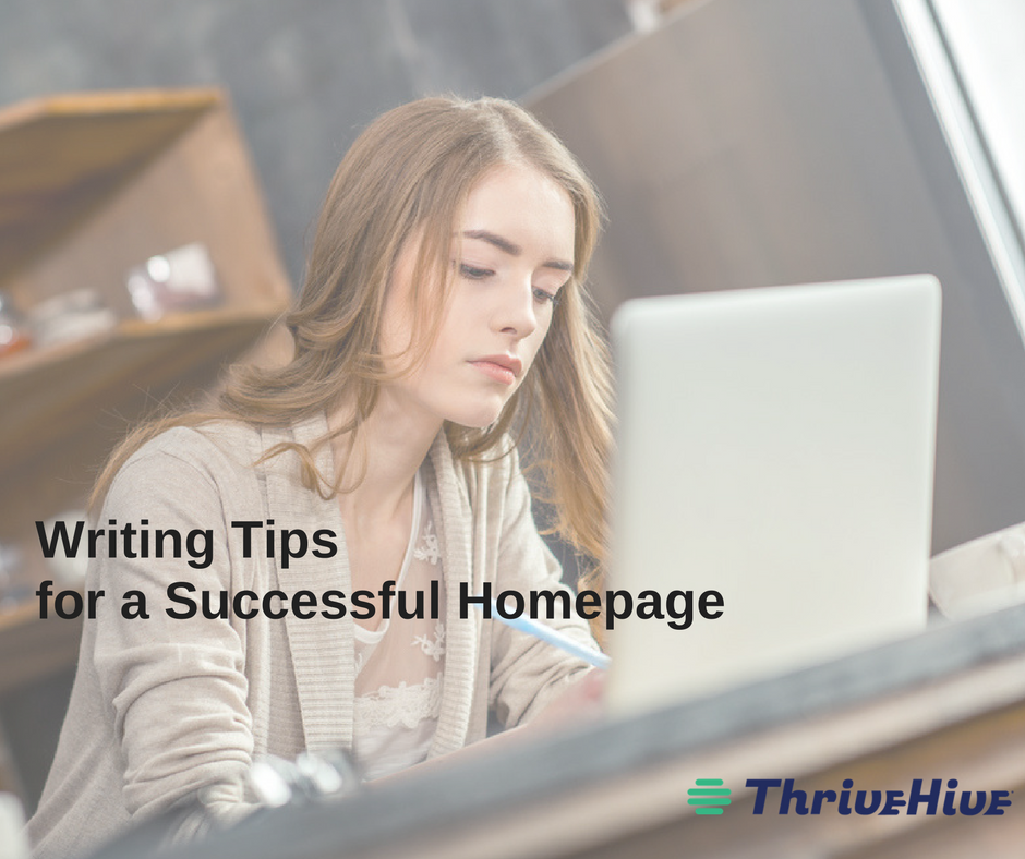 writing tips for a successful homepage