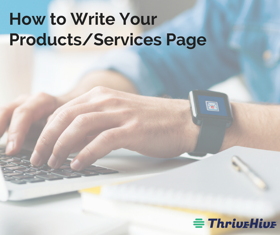 How to Write Your Products and Services Page