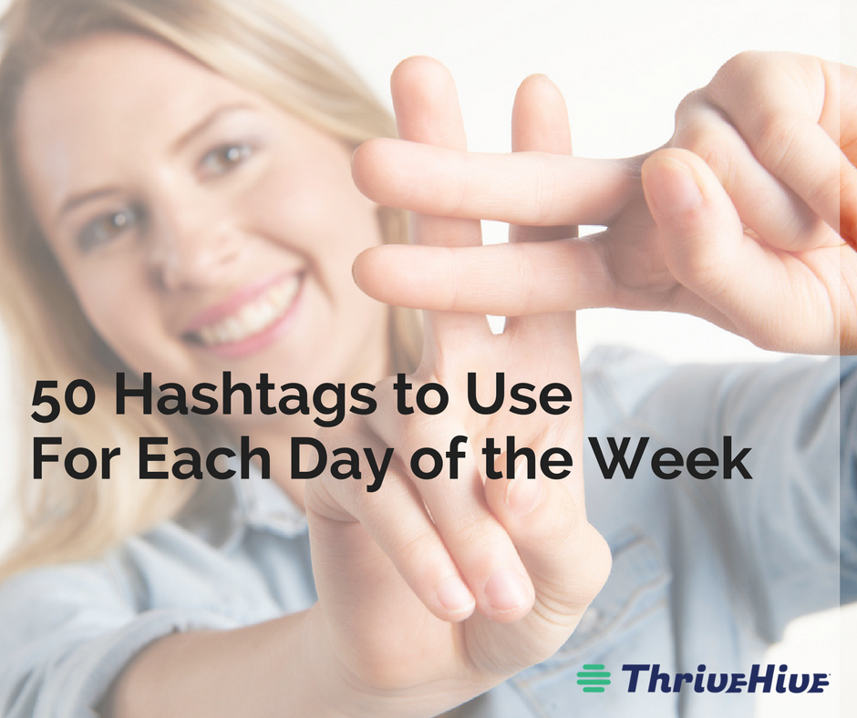 Daily Hashtags Days of the Week
