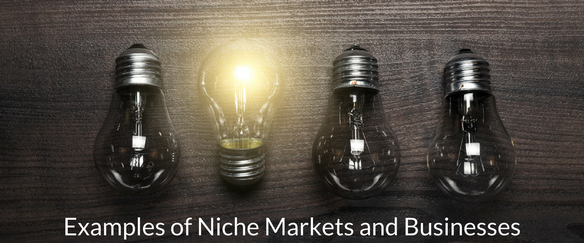 Examples of Niche Markets and businesses