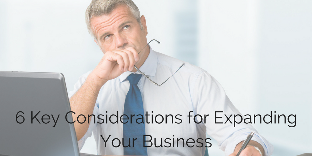 things to consider when expanding business