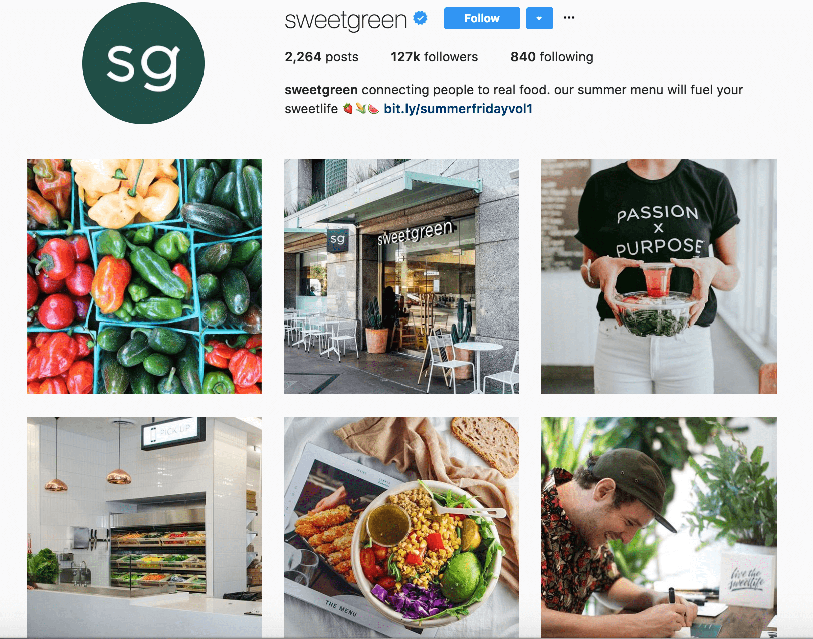examples of social media campaigns sweetgreen