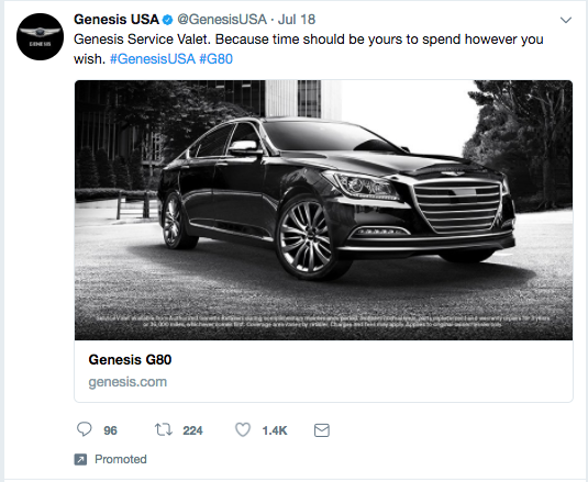 Examples of Twitter Ads Genesis