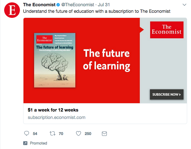 Examples of Twitter Ads The Economist