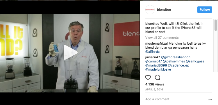 small businesses that went viral blendtec