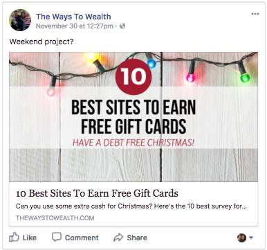facebook holiday debt tips