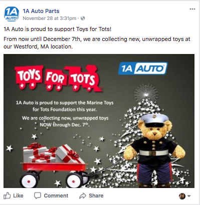 holiday facebook posts charity auto repair