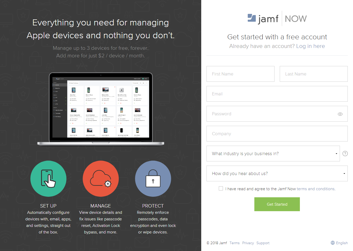 email landing pages example jamf