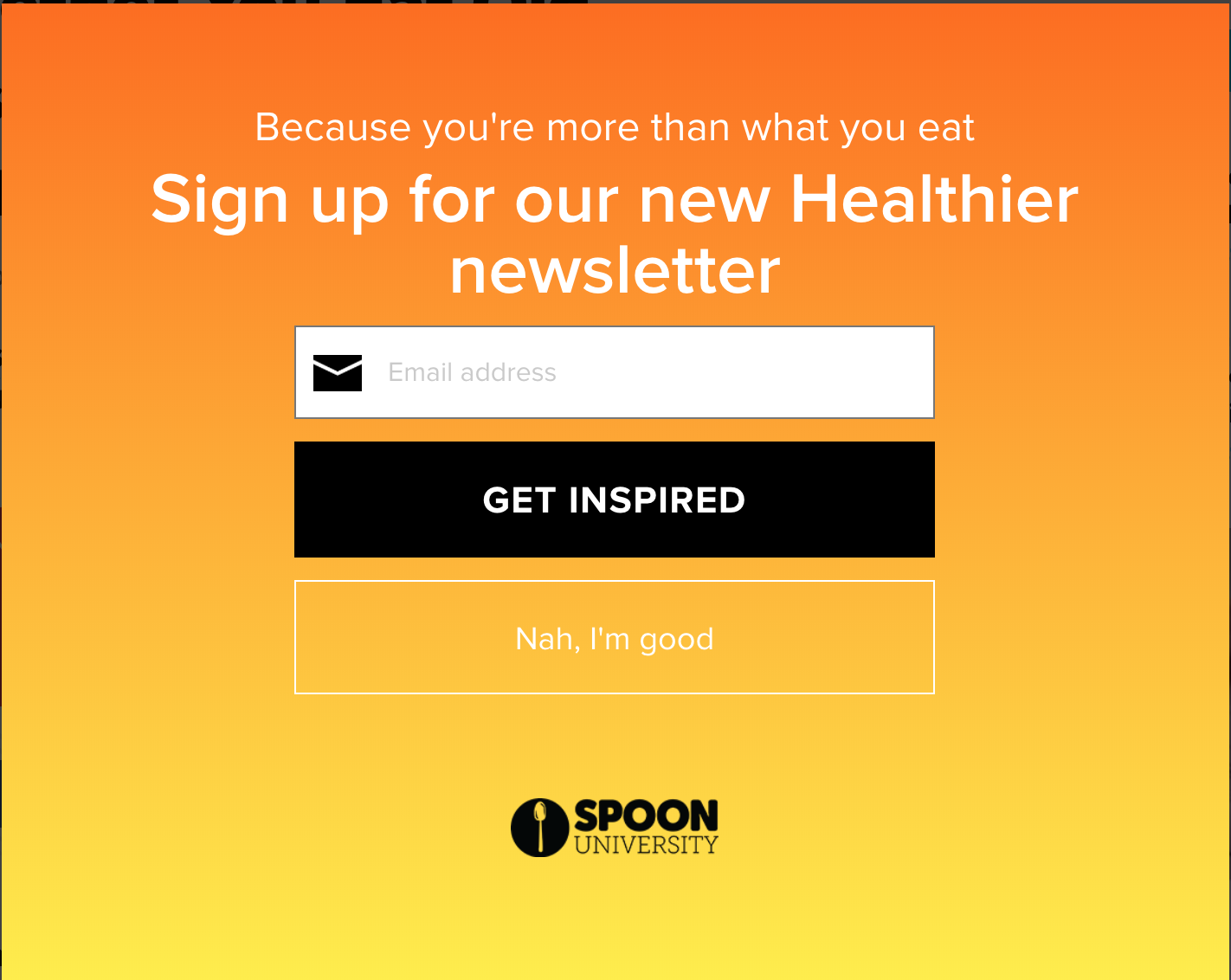unique creative clever call to action examples nah i'm good Spoon University