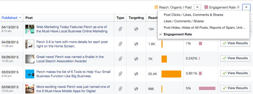 how to check facebook engagement