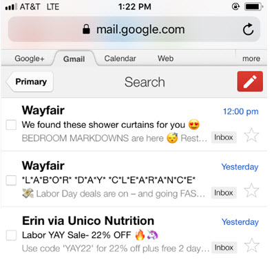 examples of effective email marketing campaigns emoji