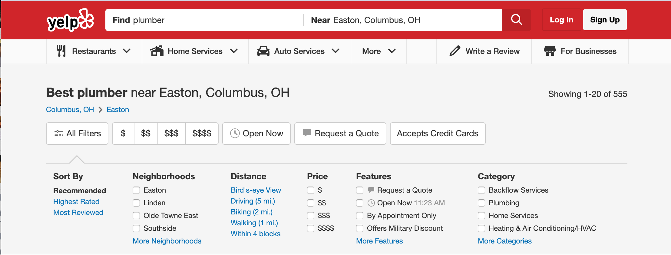 get found by new customers yelp