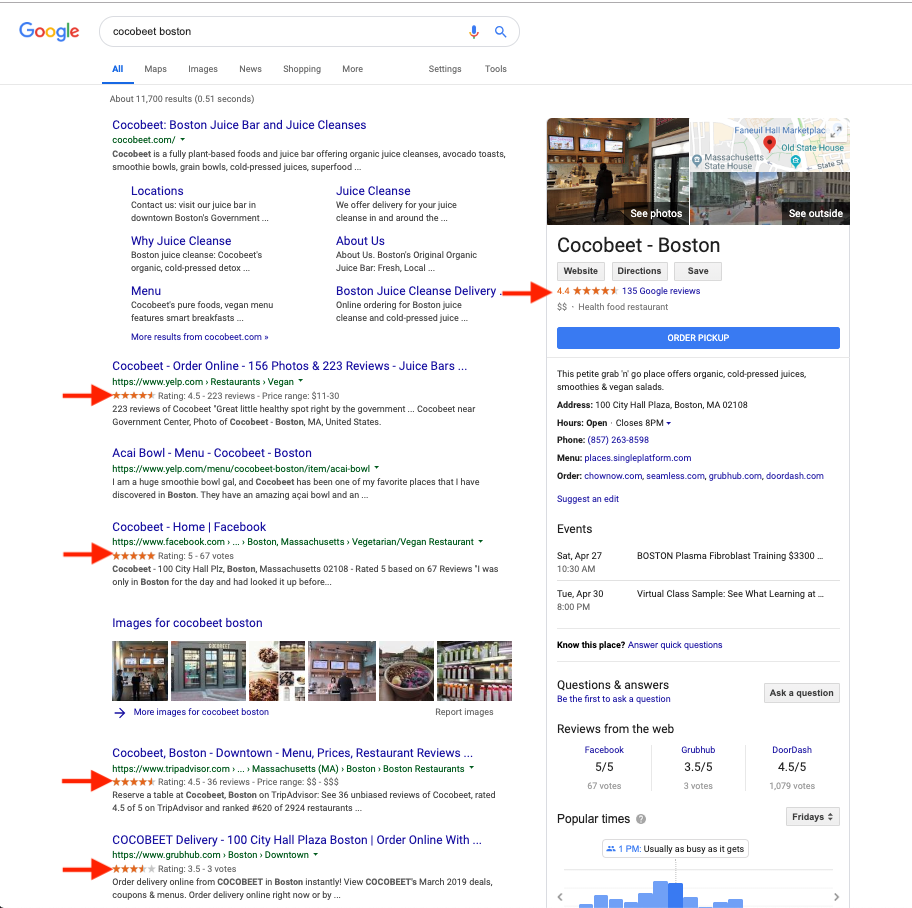 how to get star ratings to show up organic search