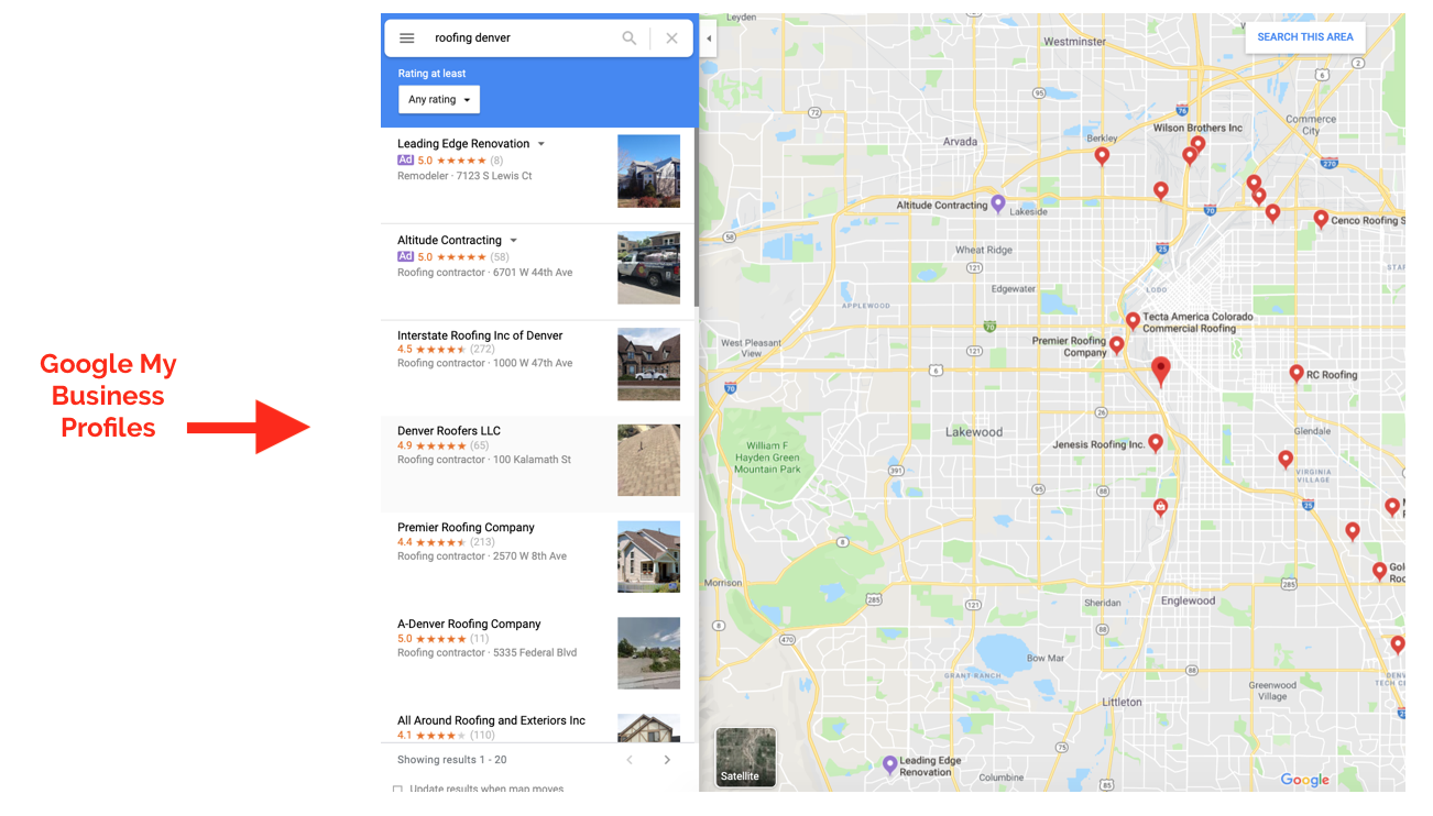 google my business profile maps