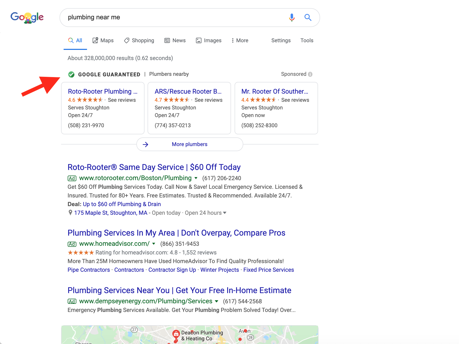 how to get to the top of google both types of ads