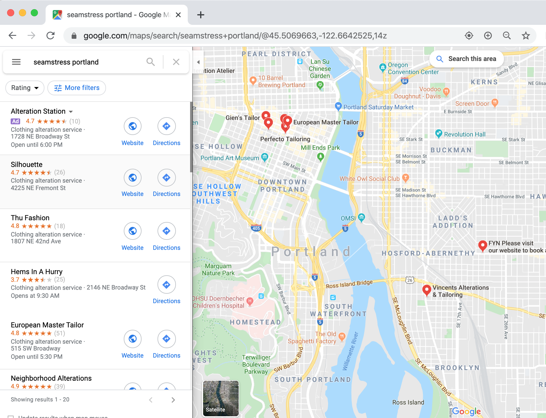 how to get to top of google maps example