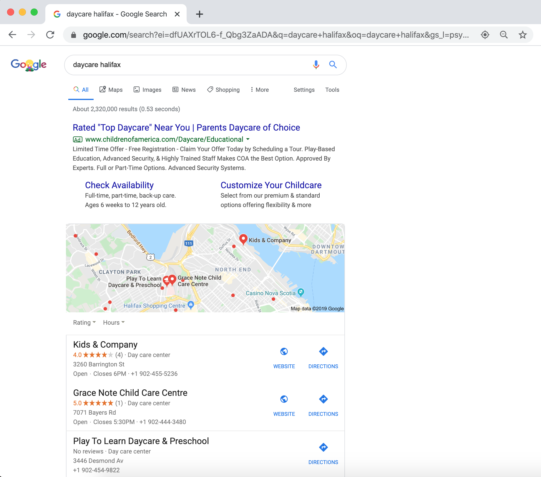 how to get to the top of google search local results